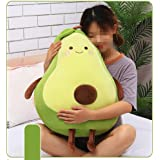 XICHEN 27 Inch Green Large Simulation Avocado Plush Toy Doll Sleeping Pillow Doll Doll, Holiday Warm Gift Plush Toy Pillows (