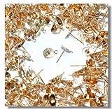 カン付き丸皿ピアス 8mm ゴールド 真鍮製 50個入り