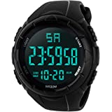 Men's Digital Sports Watch Waterproof Military Electronic Stopwatch for Men with Auto Date Alarm LED Backlight Chronograph Bl