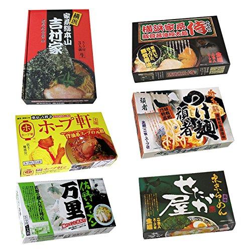 関東がっつりご当地ラーメン6種26食セット(吉村屋 侍 佐野万里 せたが屋 頑者 ホープ軒)
