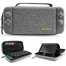 tomtoc Nintendo Switch 対応 専用ケース、 持ち運び キャリングケース ハードポーチ 大容量 Nintendo Switch コントローラー アクセサリーポーチ– グレー