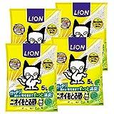 『ニオイをとる砂 リラックスグリーンの香り 5L×4袋 (ケース販売)』画像