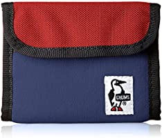 [チャムス]財布 Trifold Wallet Sweat Nylon H・Navy/Tomato