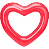 """HeySplash Inflatable Swim Rings, 47.3"""" x 39.4"""" Heart Shaped Swimming Pool Float Loungers Tube, Water Fun Beach Party Toys for"""
