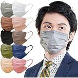 アイリスオーヤマ マスク 不織布 血色マスク カラーマスク ふつうサイズ 60枚入 APN-60LG グレー