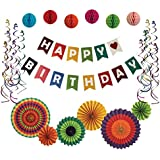 Good Party Kit Ultimate Birthday Party Decorations Happy Birthday Banner Party Supplies Colourful Birthday Party Decorations for All Ages BONUS INCLUDED