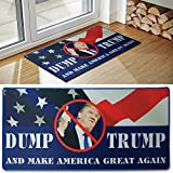 [ファニーギャグギフト]Funny Gag Gifts Donald Trump Novelty Doormat, Includes FREE Dump Trump Bumper Sticker, Funny [並行輸入品]