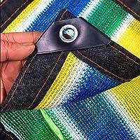 CJC シェルター テント・タープ シェードネット 夏 日焼け止め95% シェードクロス、 シェードファブリック テーピングエッジ グロメットと ルーフ バルコニー パーゴラ カバーキャノピー スポーツ アウトドア (Color : Multicolor, Size : 2x3m)