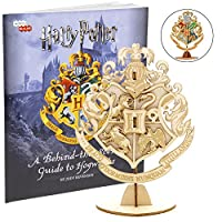 "Harry Potter Hogwarts Crest 3dブックと3d木製モデルキット–構築、ペイント、収集Your Own木製モデル–Great for Kids–大人の4"" x 3""–8+"