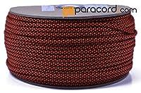 Boredパラコードブランド550タイプIIIパラコード–オレンジダイヤモンド–250フィートスプール