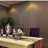 (ハンメロ)HANMEROのりなし壁紙 ストライプ フリース 珈琲色 シンプルモダン 1ロール(53cm×10m)