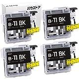 ブラザー brother LC11 ブラック 4個セット 互換インクカートリッジ【バウストア】