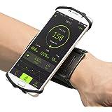 VUP アームバンド ランニングアームバンド スマホ腕ホルダー 4-6.5インチのスマホに対応 360度回転 通気 防汗 iPhone Android 全機種対応 1年間保証