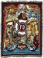 """Pure Country Weavers""""Fireman Pride Blanket"""" Tapestry Throw [並行輸入品]"""