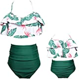 RUYUE Baby Girls Bikini Set Mommy and Me Swimsuit Family Matching Women Swimwear