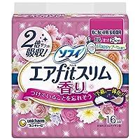 ソフィ エアフィットスリム ハッピーブーケの香り 250 特に多い昼用 羽つき 25cm 16コ入 (unicharm Sofy)
