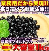アメリカ産の希少な「野生種」ワイルドブルーベリーを使用!無漂白!添加物、香料、着色料!!  野生種★ワイルドブルーベリー大容量1kg