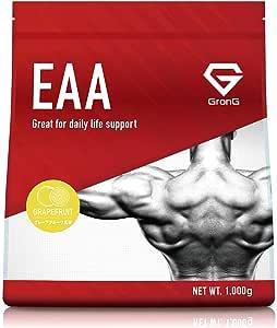 GronG(グロング) EAA アミノ酸 グレープフルーツ風味 1kg (100食分) 必須アミノ酸 国産