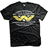 Officially Licensed Retro Men's Aliens Wayland-Yutani Corp Black T-Shirt
