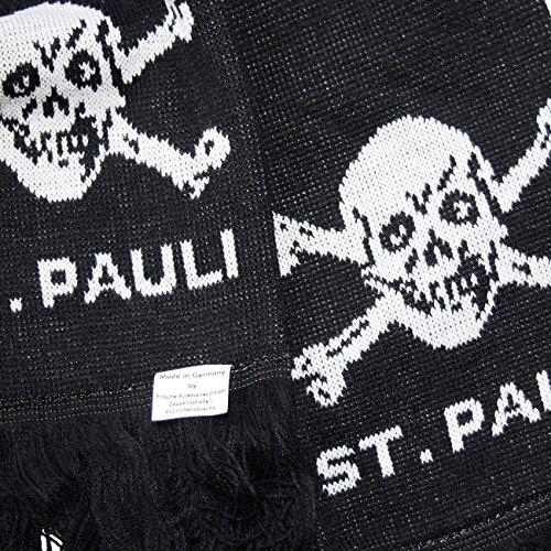 St.Pauli ザンクトパウリ マフラー Totenkopf ブラック SP2420