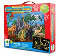 The Learning Journey Puzzle Doubles Glow In The Dark Wildlife [並行輸入品]