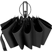 折りたたみ傘 ワンタッチ自動開閉 おりたたみ傘 頑丈な10本骨 UVカット率99.9%以上 折り畳み傘 メンズ 台風対応…