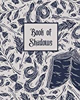 Book of Shadows: Book of Spells Notebook | Blank SpellBook | Guided Grimoire Journal - 8x10 inches, 100 pages - B&W Books and Snakes Alchemy Cover