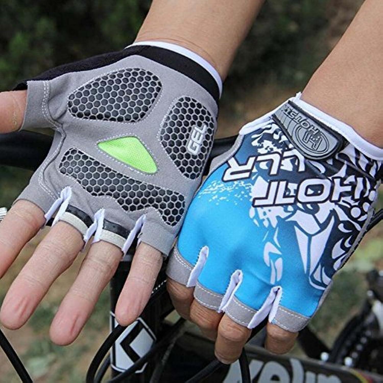 自転車ハーフフィンガーグローブライディンググローブショートフィンガーアウトドアスポーツミトン耐久性ユニセックス