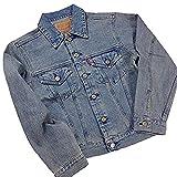 BLUEWAY 日本製 かっこいい Gジャン デニム ジャケット ジージャン ビンテージ 加工 春物 アウター メンズ 大人 用 (S)