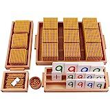 Montessori Mathematics Math Teaching Aids Decimal System Bank Game Materials Baby Preschool Education Toys