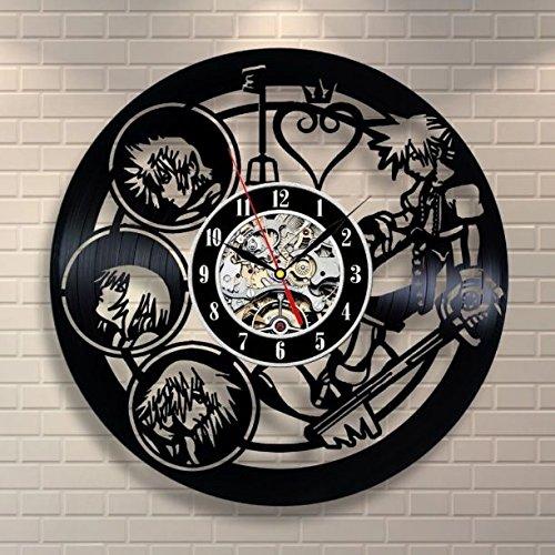 キングダムハーツ 壁掛け時計 レコード スクエニ ディズニー...