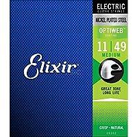 Elixir エリクサー エレキギター弦 OPTIWEB Medium .011-.049 #19102 【国内正規品】
