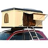 Hewflitルーフテント 車上テント カールーフテント キャンピング 車用 車上泊 はしご付き 防水 折りたたみ 可…