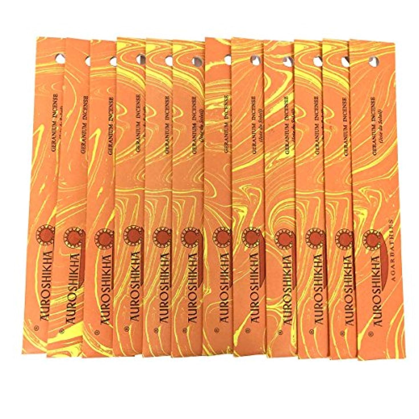 二十災難クリーナーAUROSHIKHA オウロシカ(GERANIUMゼラニウム12個セット) マーブルパッケージスティック 送料無料