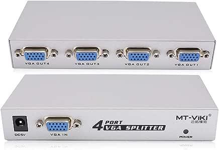 1台のPCから4台のモニターへスプリッターボックスVGA / SVGA LCD CRT 4ポート