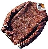【Wild Cats】メンズ セーター 厚手 丸首 クルーネック 秋 冬 長袖 おしゃれ カジュアル トップス エコバッグ付き