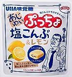 味覚糖 あじわいぷっちょ 塩こんぶ&レモン 57g×6袋