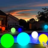 LED Beach Ball 13 Colors 16'' Glow Ball Light Up Toys with Remote Swimming Pool Toys Inflatable Floating Ball Glow in The Dar