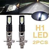 Paddsun 2Pcs H1 6000K Super Bright White 6000LM DRL LED Headlight Bulb Kit High Beam 160W