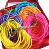 Adorox 144 Bracelets Neon Jelly Bracelets Rainbow Colors Party Favors Birthday Gifts Prizes Assorted (Assorted (144 Bracelets