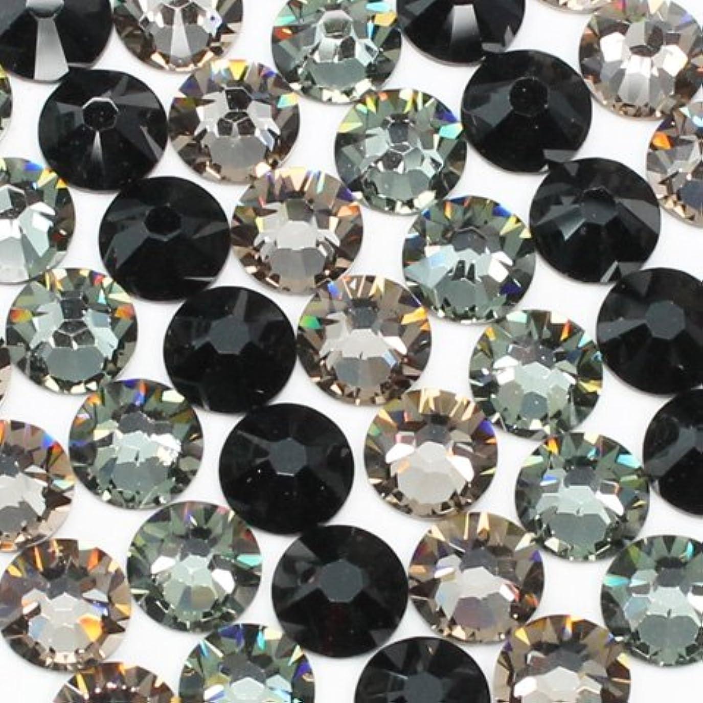 タイル宗教パッケージお試しアートMIX[ブラック]ブラックダイヤモンド、グレージュ、ジェット/スワロフスキー(Swarovski)/ラインストーン ss16(粒20粒)