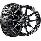 国産スタッドレスタイヤ(165/60R15)+ホイール(15インチ) 4本SET(1台分)■Cセット:G.speed G-02[メタリックブラック]