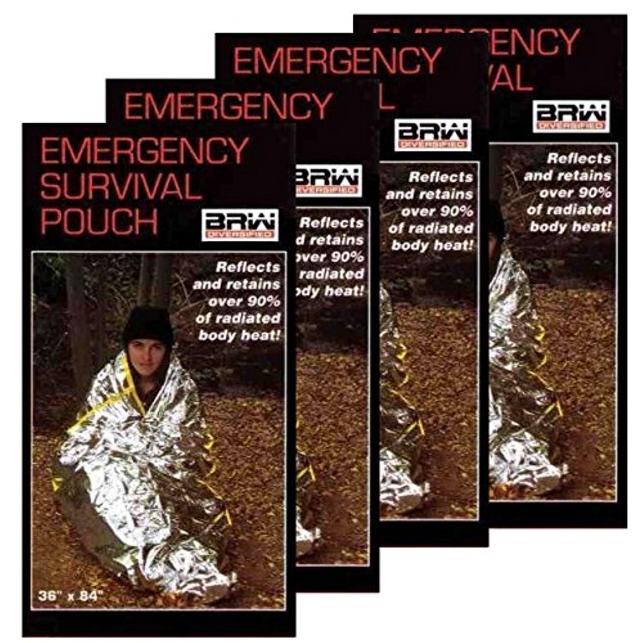 ポータブルと組む美徳Emergency Mylar Survival Sleeping Bags - Bags. SSB-4 by BRW