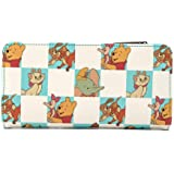 Loungefly Disney Classics Mint Checkered All Over Print Flap Wallet