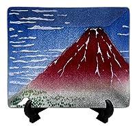 七宝焼 飾皿 43 富嶽 124-12