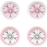 LeyuSmart Sakura Flower Thumb Grips For Nintendo Switch, Joystick Caps for Switch&Switch Lite Thumbstick, Silicone Cover (Pin