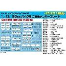 1/12 ディテールアップシリーズ No.41 50ccバイク用 ご当地ナンバープレート