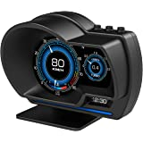wiiyii Car HUD Head Up Display P6, OBD+GPS Smart Gauge, Works Great for All Cars