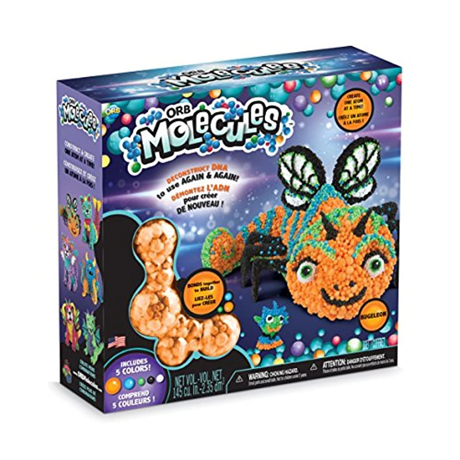 The Orb Factory ORBMolecules Bugeleon Never Dries Compound オレンジ/ブルー/グリーン 9.44インチ x 3.44インチ x 8.44インチ