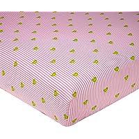 Sadie & Scout - Bird & Pinstripe Crib Sheet. by Sadie & Scout